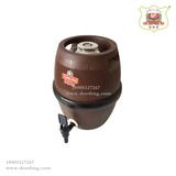 Inner rigid outer drum type wood grain beer barrel